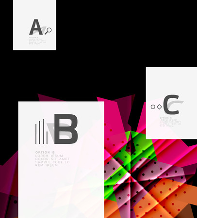 Colorful abstract shapes design