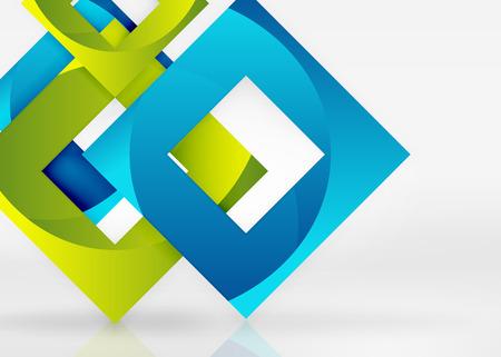 quadrate: Abstract Squares geometric shapes Illustration