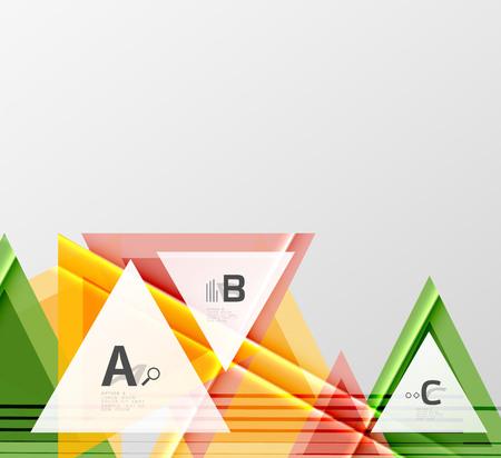 Color triangles background design vector illustration.