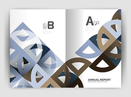 Circle abstract annual report business templates. Ilustração
