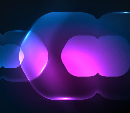 Blurred transparent hexagons on dark, digital abstract background