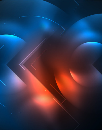 Digital techno wallpaper, glowing abstract background, circles