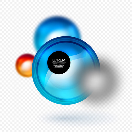 Sphere 3d vector banner, abstract background. Illustration