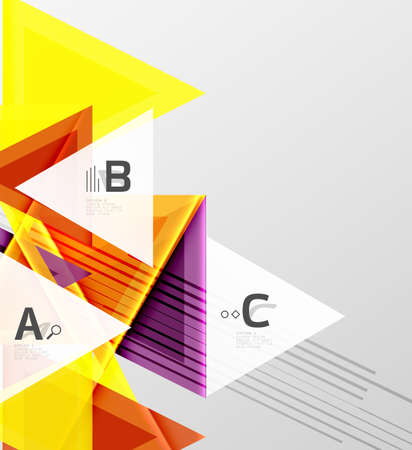Triangles and geometric shapes abstract background