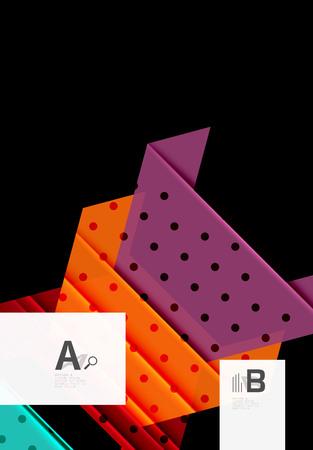 Abstrakter Hintergrund der Dreiecke und der geometrischen Formen. Vektor-Illustration für Ihr Design Vektorgrafik
