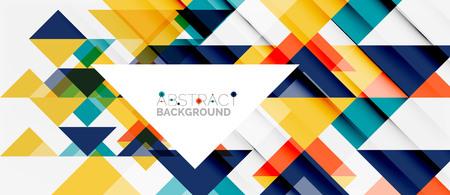 Triangle pattern design background Illustration