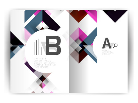 Geometric a4 annual report cover print template, brochure template layout, cover design annual report, magazine, flyer or booklet in A4. Business vector Illustration. Illustration