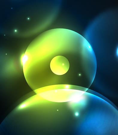 futuristic: Glowing circles pattern. Illustration