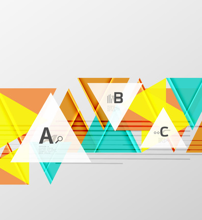 Colorful modern geometric abstract pattern.