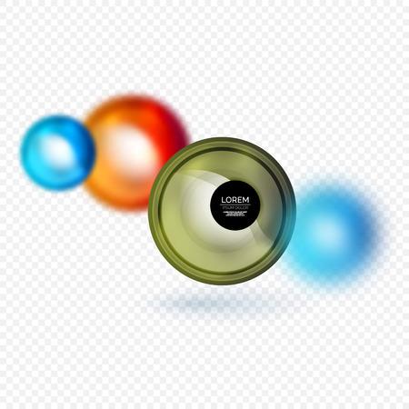 Sphere 3d vector banner on white background, vector illustration.