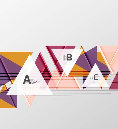sleek: Triangles and geometric shapes abstract background