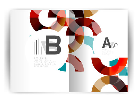 Geometric a4 annual report cover print template Illustration