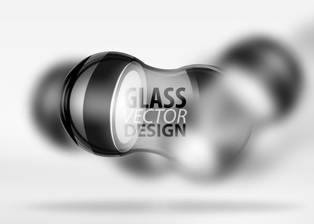 3d techno glass bubble design