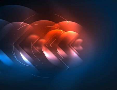 retina: Digital techno wallpaper, glowing abstract background, circles, vector technology abstract template, red and blue colors