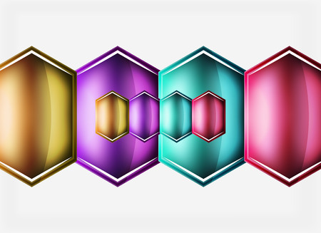 Glossy glass abstract shape illustration.