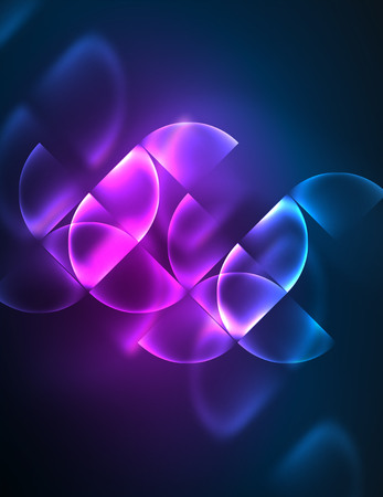 Glowing abstract shape illustration.