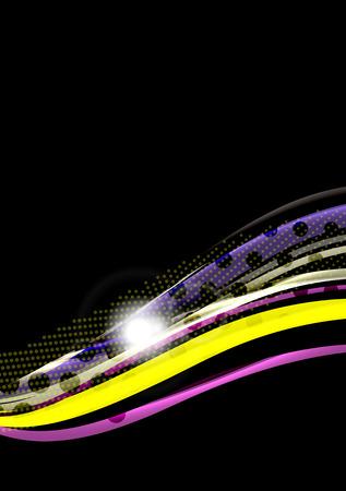 patten: Rainbow color wavy lines template patten. Illustration
