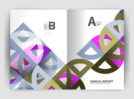 Circle vector abstract backgrounds, annual report business templates. Abstract poster