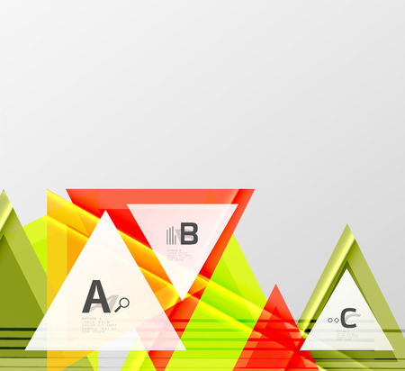 Color triangles background, modern geometric abstract background. Illustration
