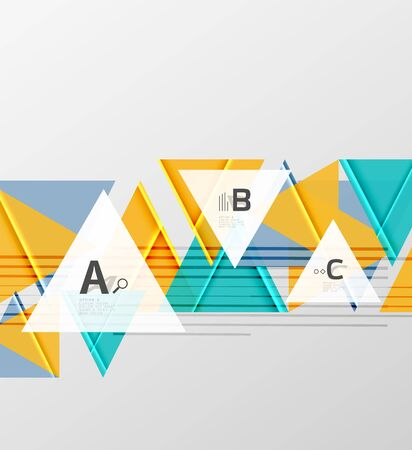 Triangles and geometric shapes abstract design background. Illustration