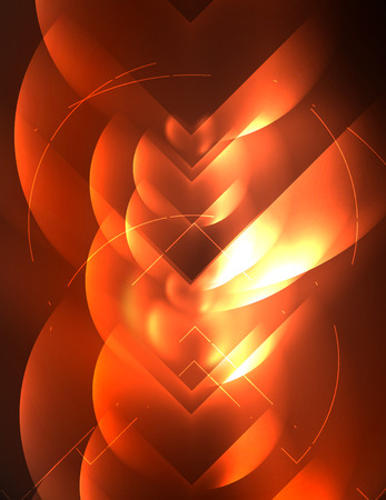 retina: Digital techno wallpaper glowing abstract design. Illustration
