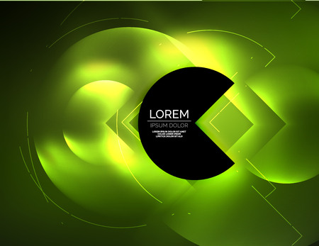 retina: Digital techno wallpaper, glowing abstract background, circles