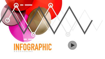 Modern geometric presentation background. Business concept or digital technology element, brochure or flyer design for web banner layouts. Illustration