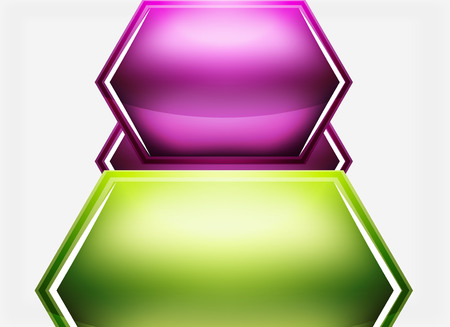 shiny buttons: Glossy glass shapes abstract background