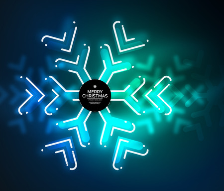Frozen winter holiday background, Christmas snowflakes