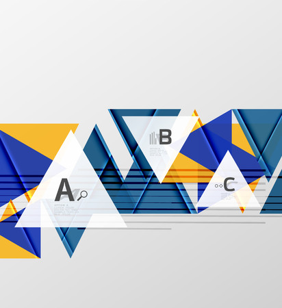 Triangles and geometric shapes abstract background Vector illustration
