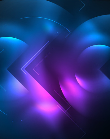 Digital techno wallpaper, glowing abstract background, circles, vector technology abstract template, blue and purple colors