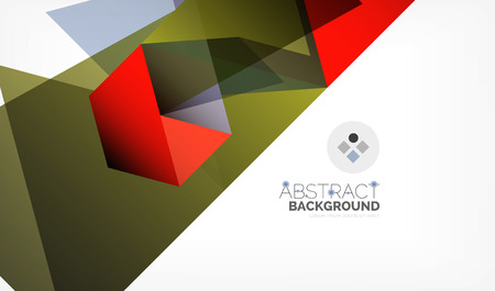 Geometric polygonal vector background, triangles and lines, modern low poly style business or techno wallpaper Illustration