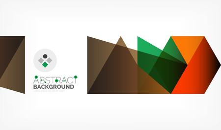 Geometric polygonal vector background Ilustração