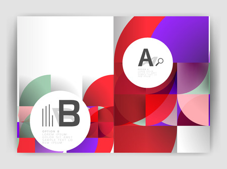 Circle vector abstract backgrounds, annual report business templates