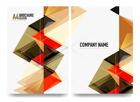 Business brochure cover layout, flyer a4 template Illustration