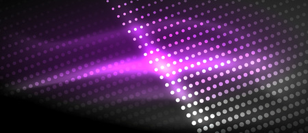 Neon light effects, particles