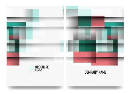Square business a4 brochure cover design, flyer, annual report Ilustração