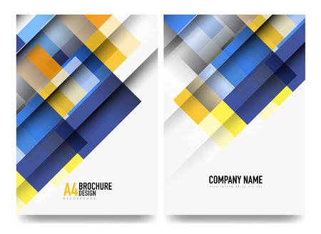 Abstract overlapping squares for brochure cover design, flyer, annual report presentation
