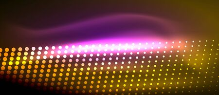 Neon light effects, particles vector illustration.