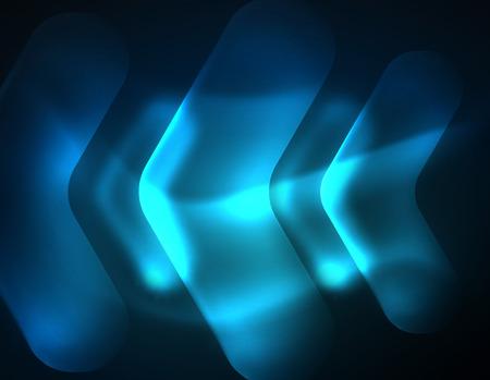 Futuristic neon glowing arrows techno background Çizim