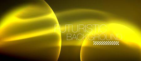 Glowing glass circles, geometric shiny futuristic background, vector techno design 向量圖像