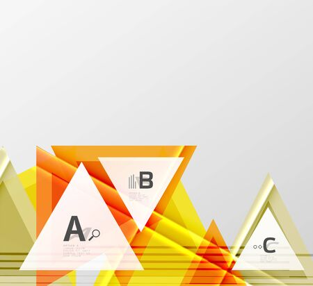 Color triangles background, modern geometric abstract background Illustration