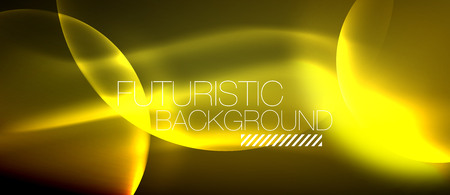 Glowing glass circles, geometric shiny futuristic background.  Vector modern minimalistic business or technology wallpaper, backdrop for presentation or banner. Illustration