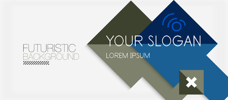 Square shapes banner design, geometric abstract background