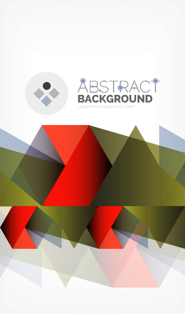 Geometric polygonal vector background, triangles and lines, modern low poly style business or techno wallpaper. Ilustração