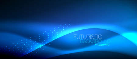 Shiny color smooth elegant neon wave. Vector background template design.