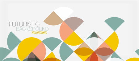 Geometric triangle and circle shape, wide abstract background. Vector modern minimalistic business or technology wallpaper, backdrop for presentation or banner.