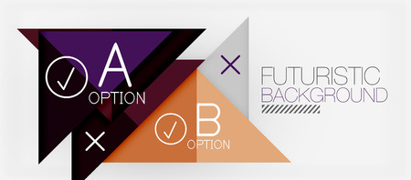Minimalistic triangle modern banner design, geometric abstract background. Vector hi-tech futuristic. Illustration