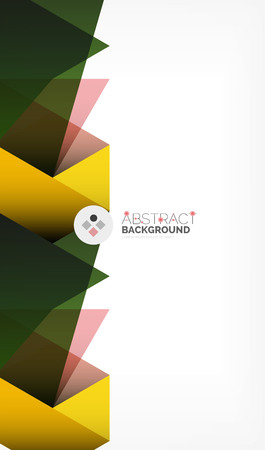 Geometric polygonal vector background, triangles and lines, modern low poly style business or techno wallpaper 일러스트