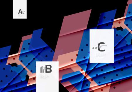 Colorful abstract geometrical shape. Minimalistic design Stock fotó - 91359940